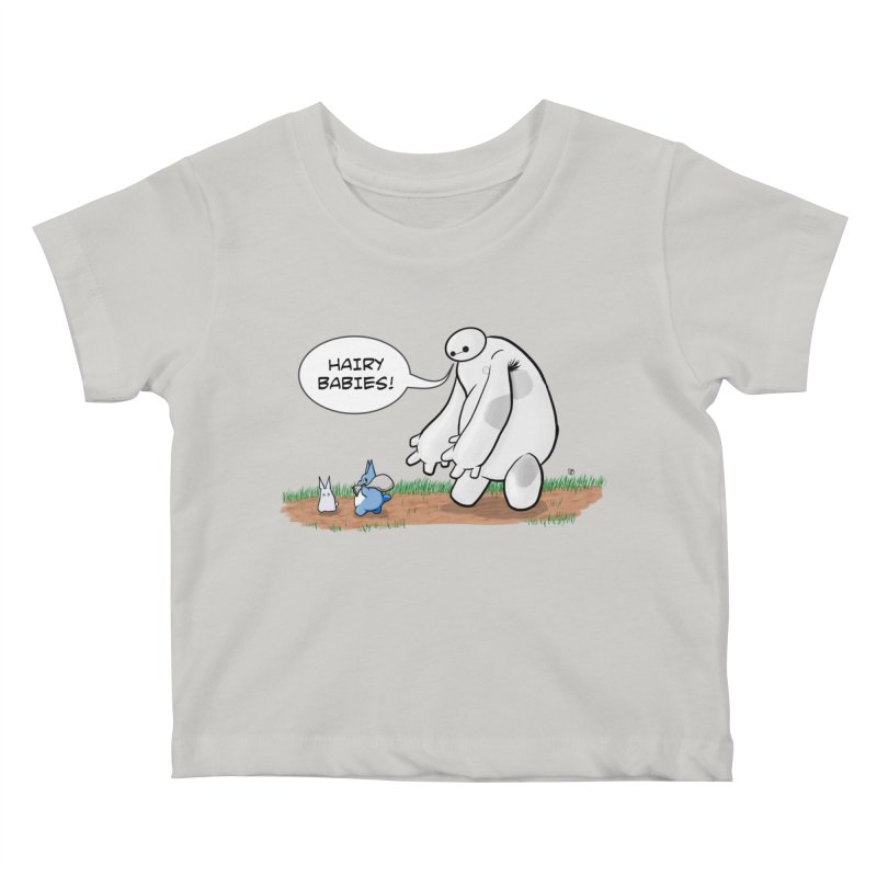 Hairy Babies Kids Baby T-Shirt by Joel Siegel's Artist Shop