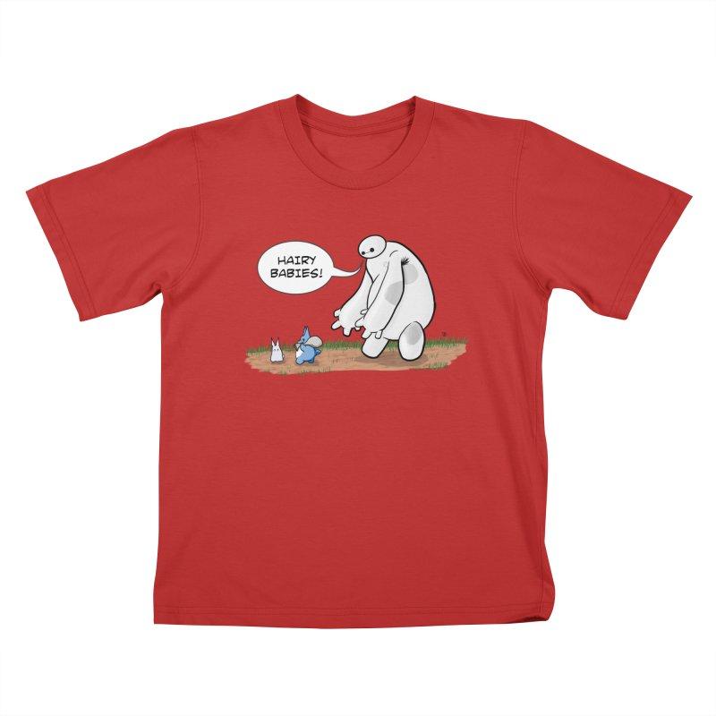 Hairy Babies Kids T-Shirt by Joel Siegel's Artist Shop
