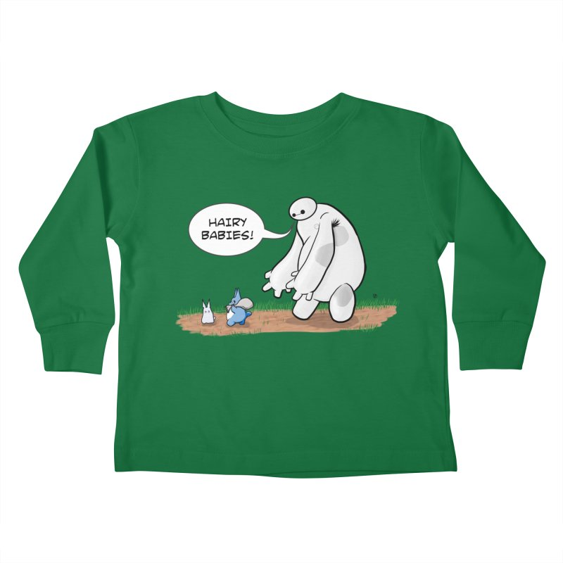 Hairy Babies Kids Toddler Longsleeve T-Shirt by Joel Siegel's Artist Shop