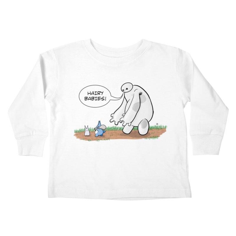 Hairy Babies Kids Toddler Longsleeve T-Shirt by Joel Siegel's Artist Shop