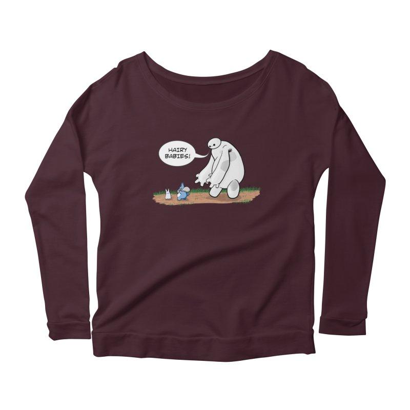 Hairy Babies Women's Scoop Neck Longsleeve T-Shirt by Joel Siegel's Artist Shop