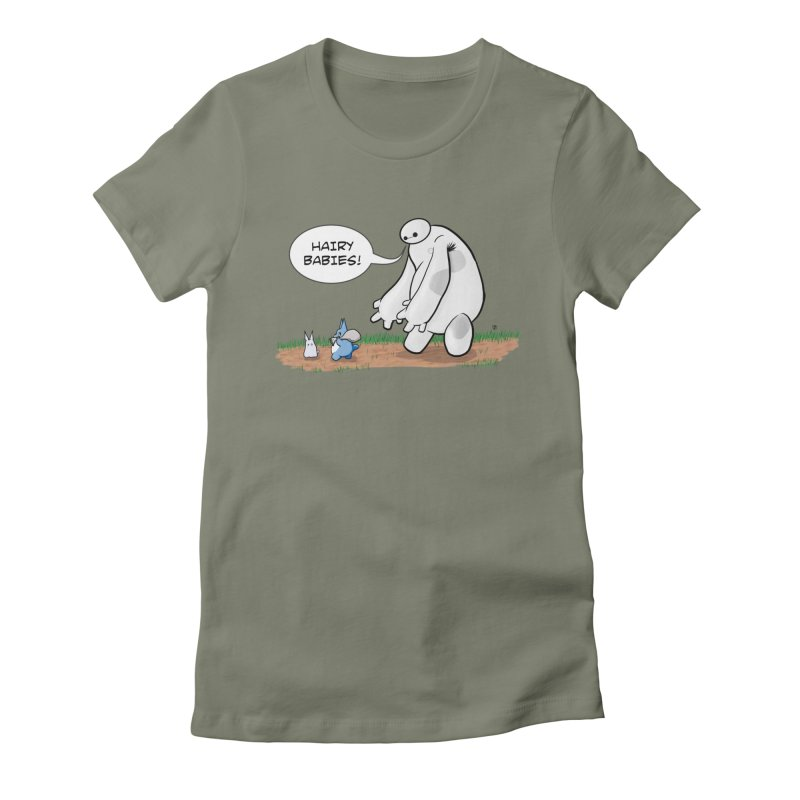 Hairy Babies Women's Fitted T-Shirt by Joel Siegel's Artist Shop