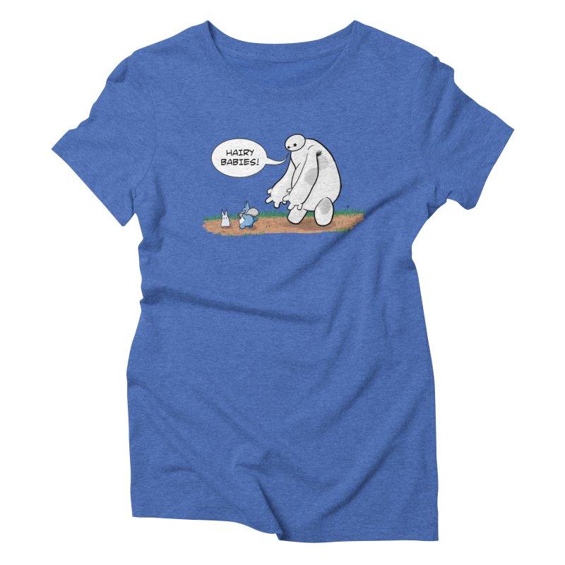 Hairy Babies Women's Triblend T-Shirt by Joel Siegel's Artist Shop