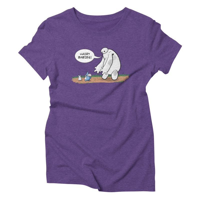 Hairy Babies Women's Triblend T-Shirt by Joel Siegel's Artist Shop