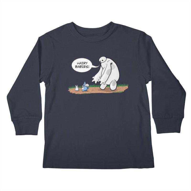 Hairy Babies Kids Longsleeve T-Shirt by Joel Siegel's Artist Shop