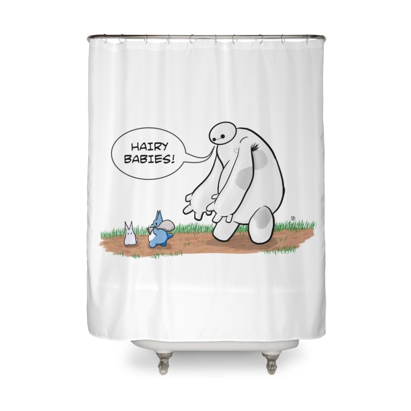 Hairy Babies Home Shower Curtain by Joel Siegel's Artist Shop