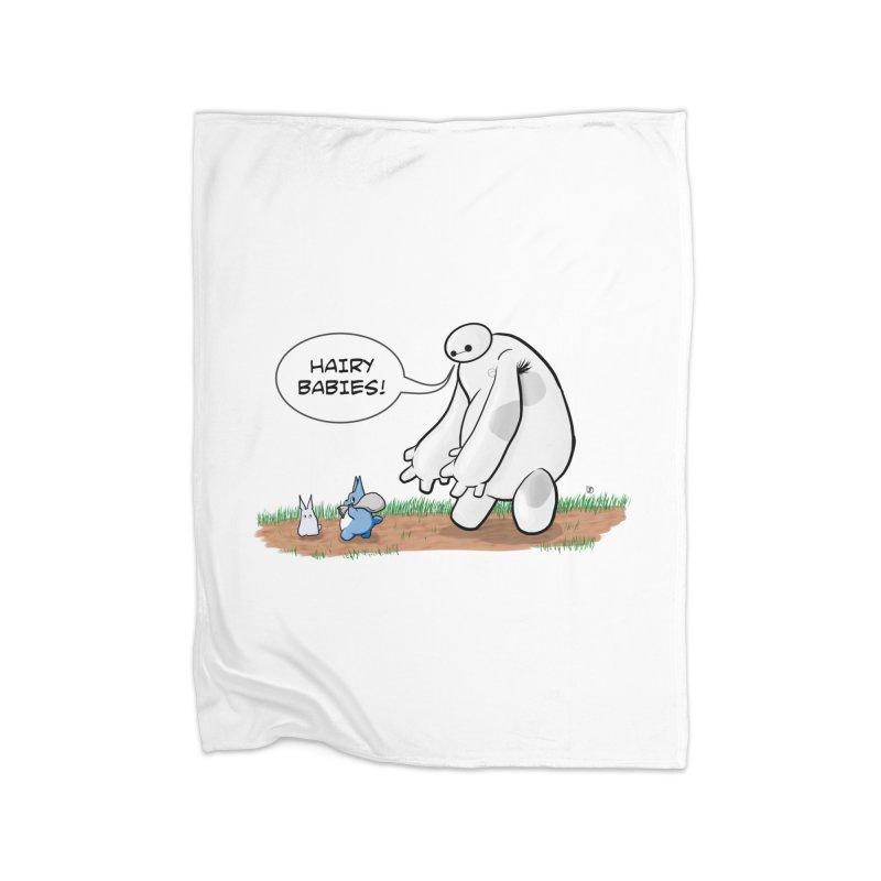 Hairy Babies Home Blanket by Joel Siegel's Artist Shop