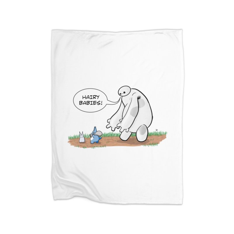 Hairy Babies Home Fleece Blanket Blanket by Joel Siegel's Artist Shop