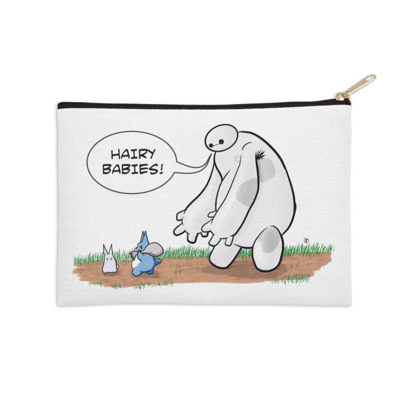 Hairy Babies Accessories Zip Pouch by Joel Siegel's Artist Shop