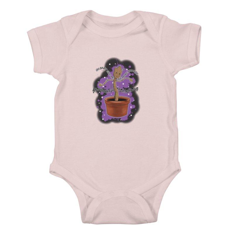 Space Dancin! Kids Baby Bodysuit by Joel Siegel's Artist Shop