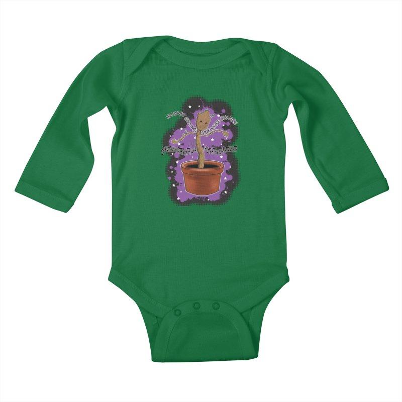 Space Dancin! Kids Baby Longsleeve Bodysuit by Joel Siegel's Artist Shop