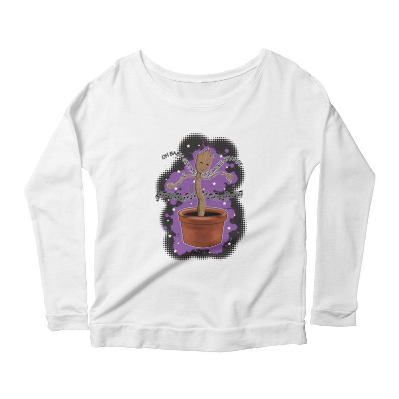 Space Dancin! Women's Scoop Neck Longsleeve T-Shirt by Joel Siegel's Artist Shop