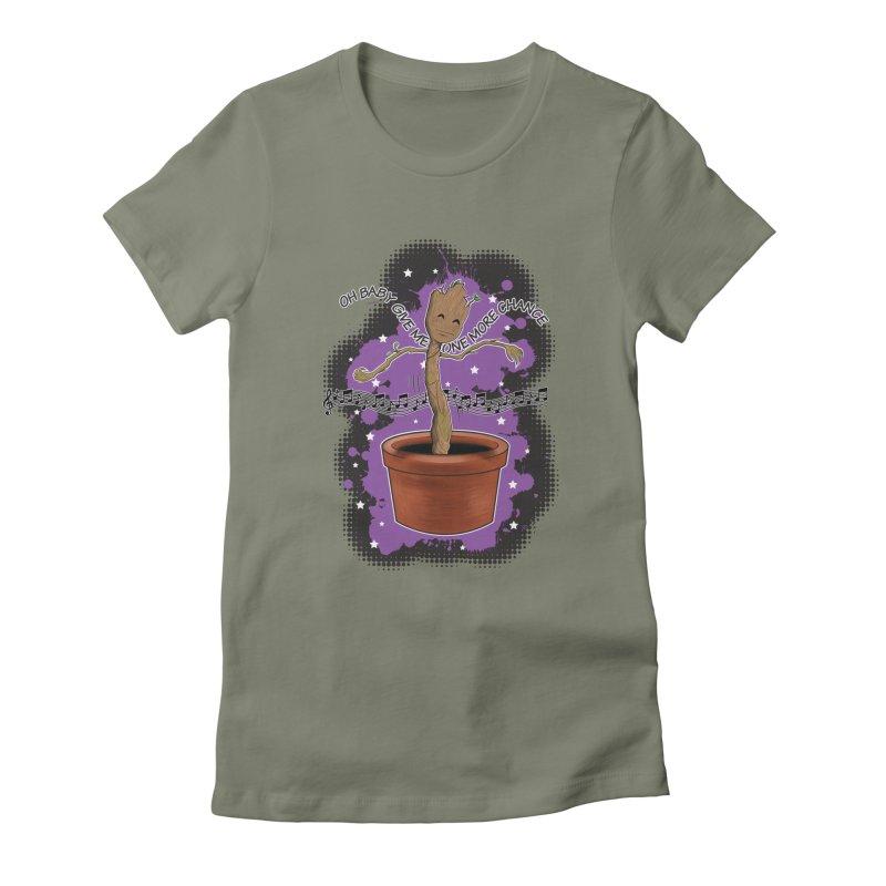 Space Dancin! Women's Fitted T-Shirt by Joel Siegel's Artist Shop
