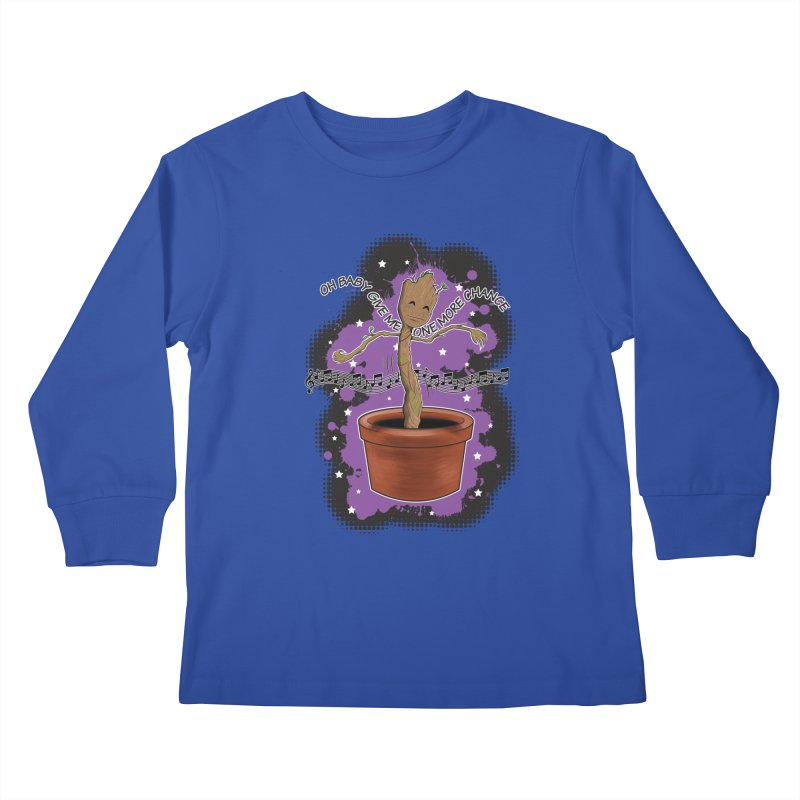 Space Dancin! Kids Longsleeve T-Shirt by Joel Siegel's Artist Shop