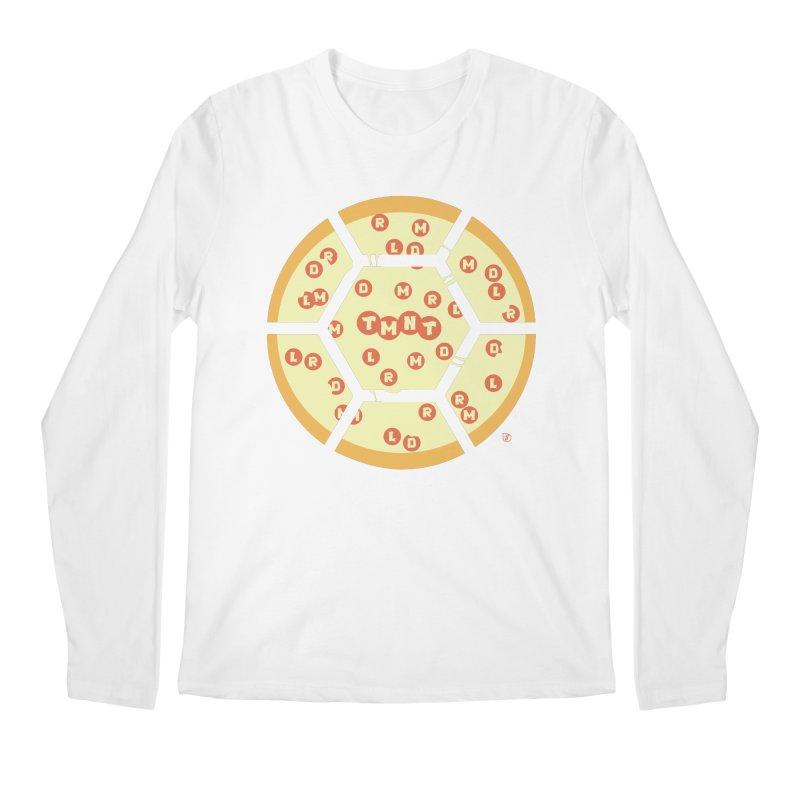Half Shell Pizza Men's Longsleeve T-Shirt by Joel Siegel's Artist Shop