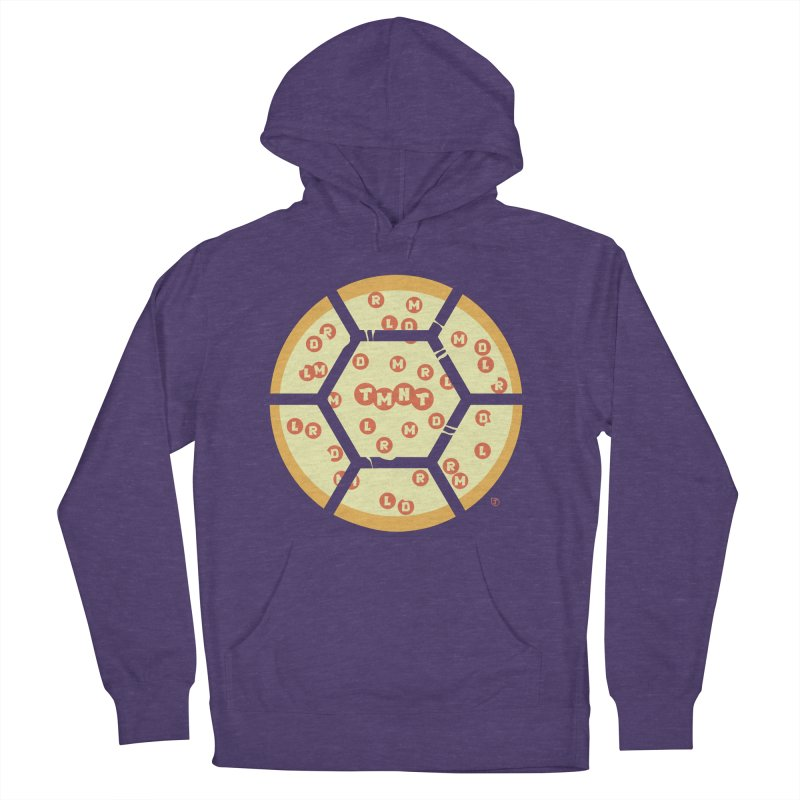 Half Shell Pizza Women's French Terry Pullover Hoody by Joel Siegel's Artist Shop