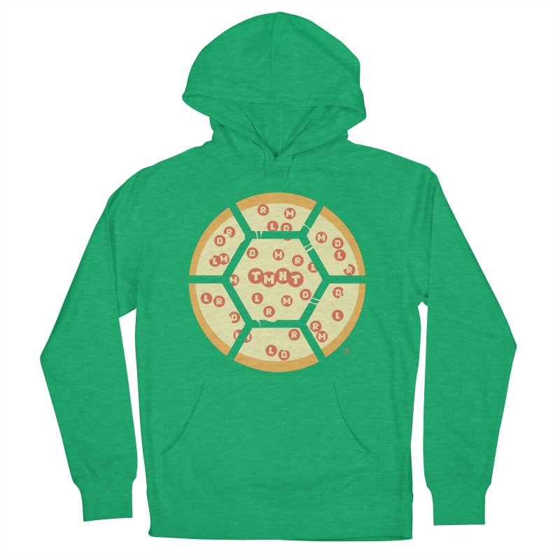 Half Shell Pizza Men's French Terry Pullover Hoody by Joel Siegel's Artist Shop
