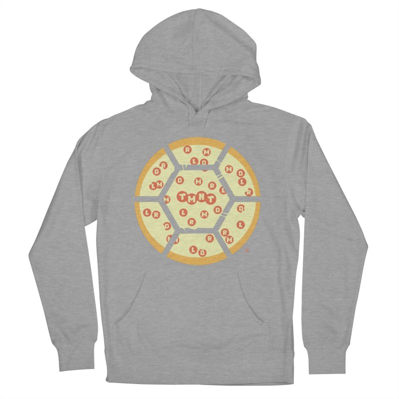 Half Shell Pizza Men's Pullover Hoody by Joel Siegel's Artist Shop