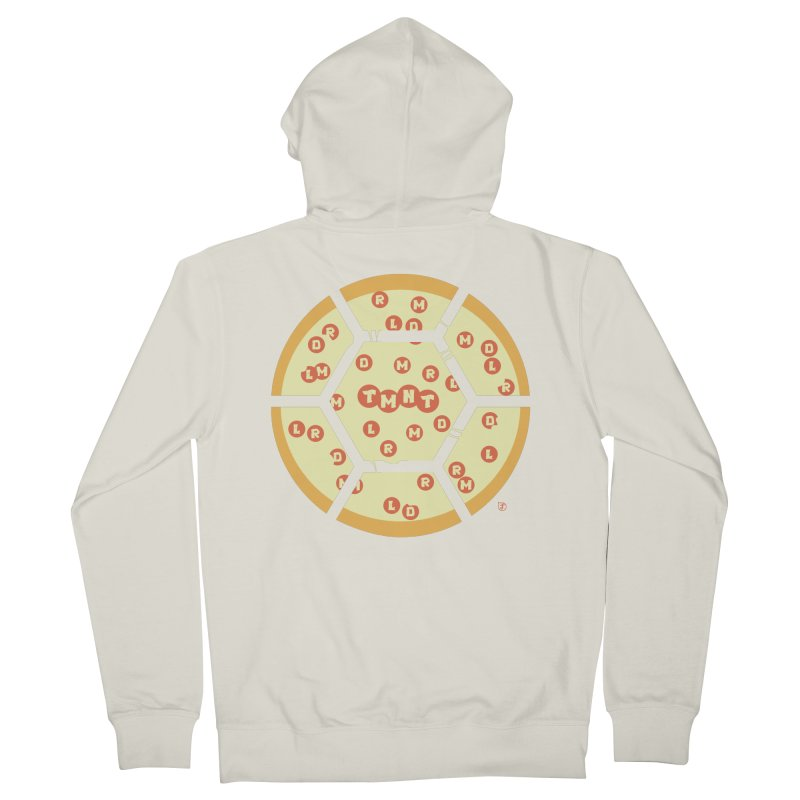Half Shell Pizza Women's French Terry Zip-Up Hoody by Joel Siegel's Artist Shop