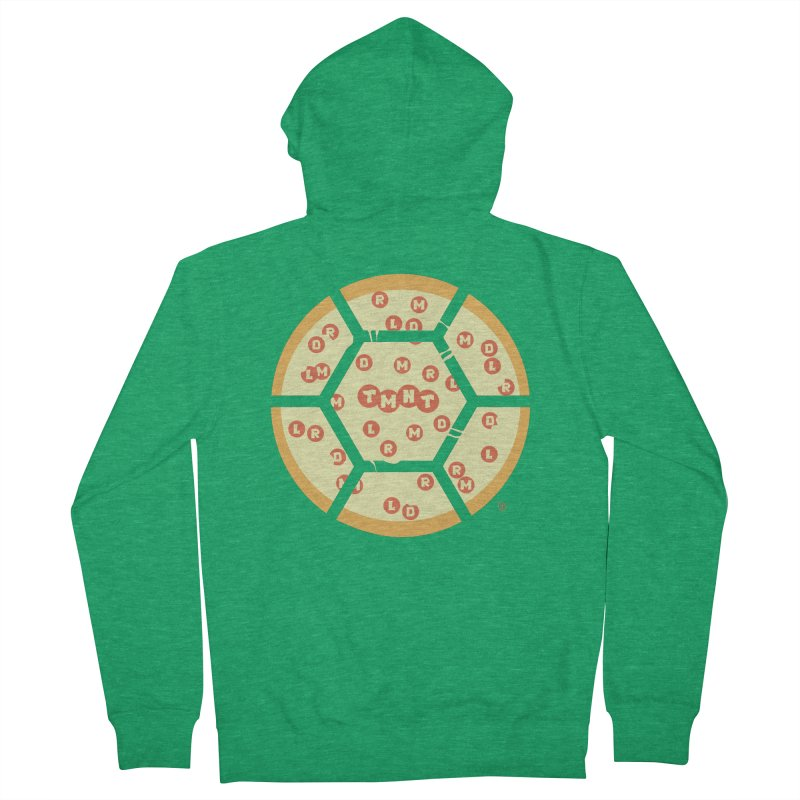 Half Shell Pizza Men's French Terry Zip-Up Hoody by Joel Siegel's Artist Shop