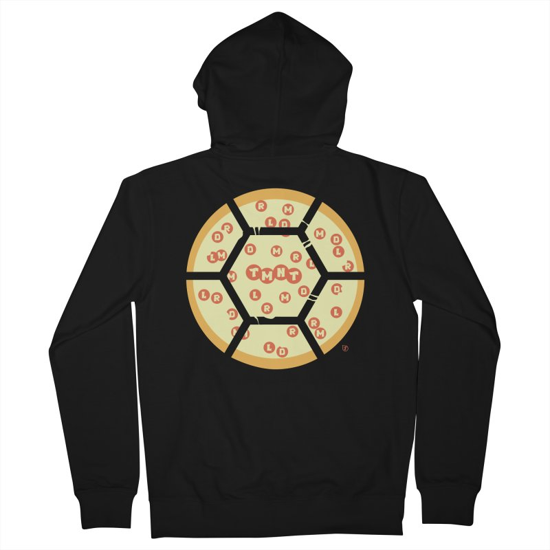 Half Shell Pizza Men's Zip-Up Hoody by Joel Siegel's Artist Shop