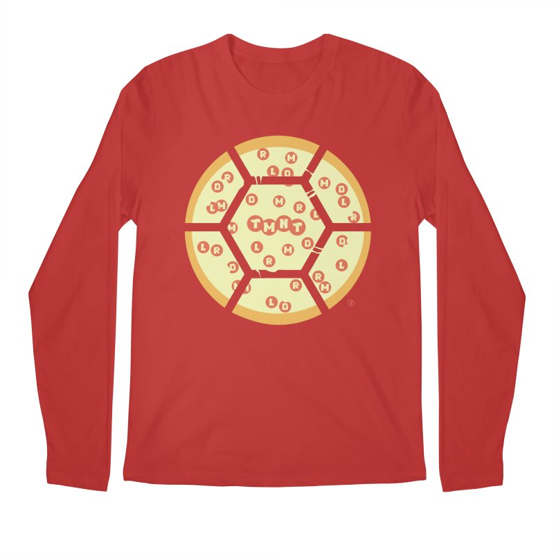 Half Shell Pizza Men's Longsleeve T-Shirt by Joel Siegel's Artist Shop