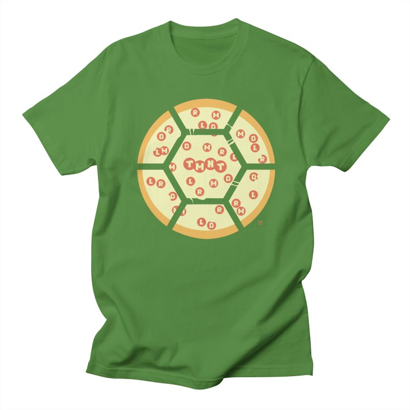 Half Shell Pizza Men's T-shirt by Joel Siegel's Artist Shop
