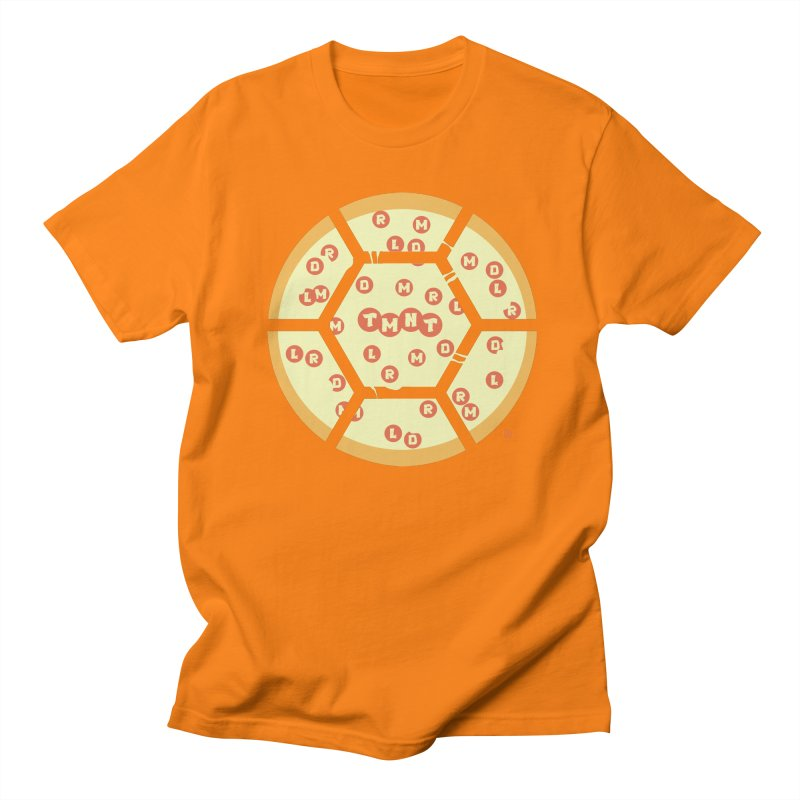 Half Shell Pizza Men's T-shirt by Joel Siegel's Artist Shop