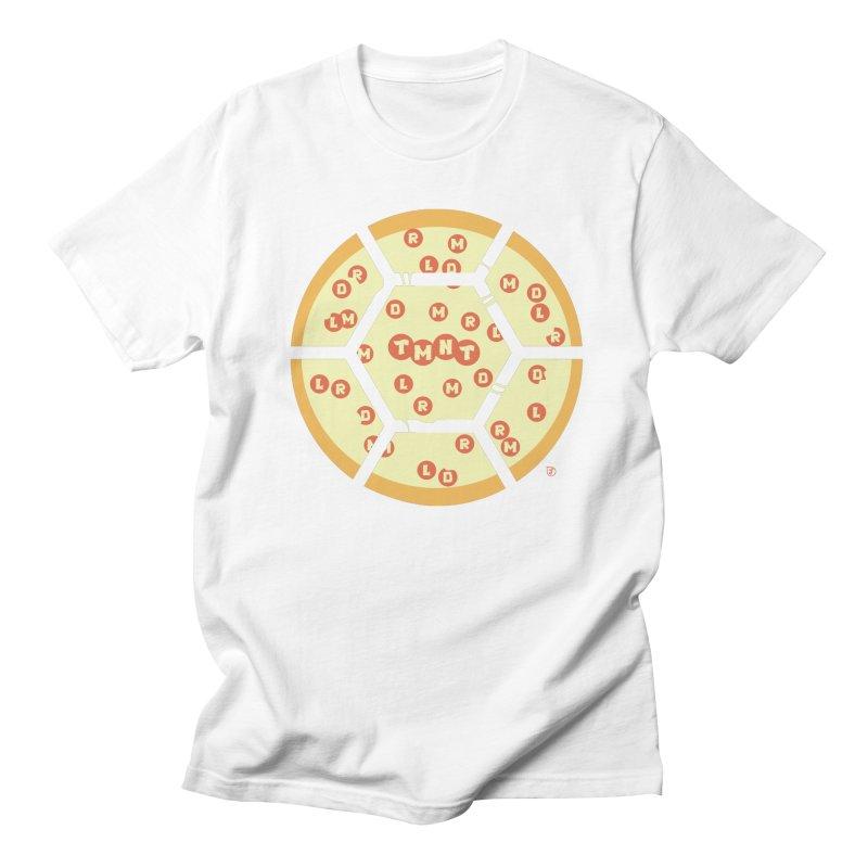 Half Shell Pizza Men's Regular T-Shirt by Joel Siegel's Artist Shop