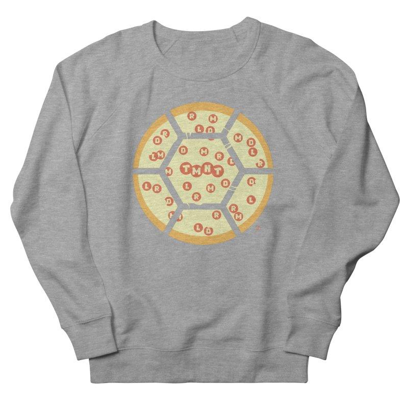 Half Shell Pizza Women's French Terry Sweatshirt by Joel Siegel's Artist Shop