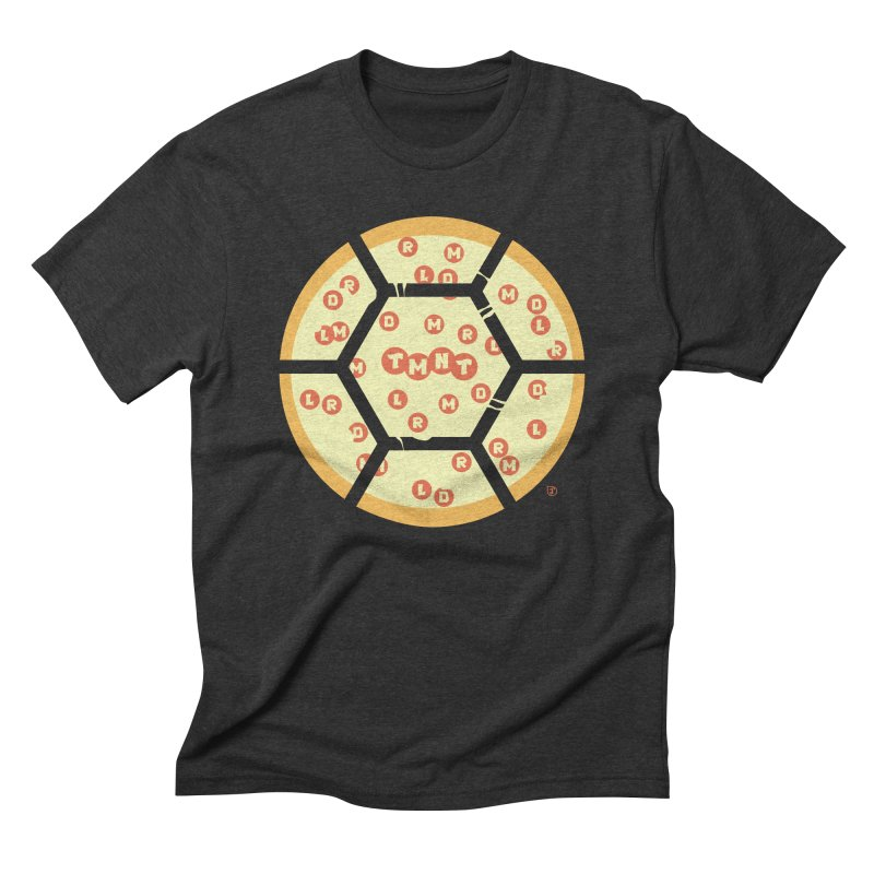 Half Shell Pizza Men's Triblend T-Shirt by Joel Siegel's Artist Shop