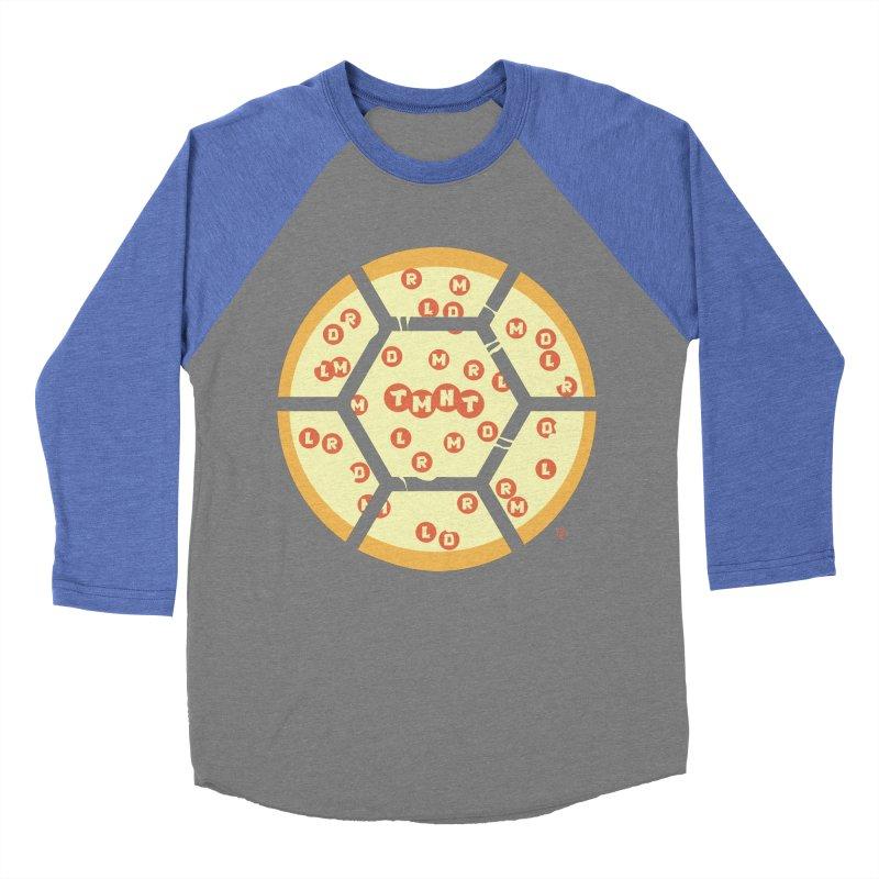 Half Shell Pizza Women's Baseball Triblend Longsleeve T-Shirt by Joel Siegel's Artist Shop