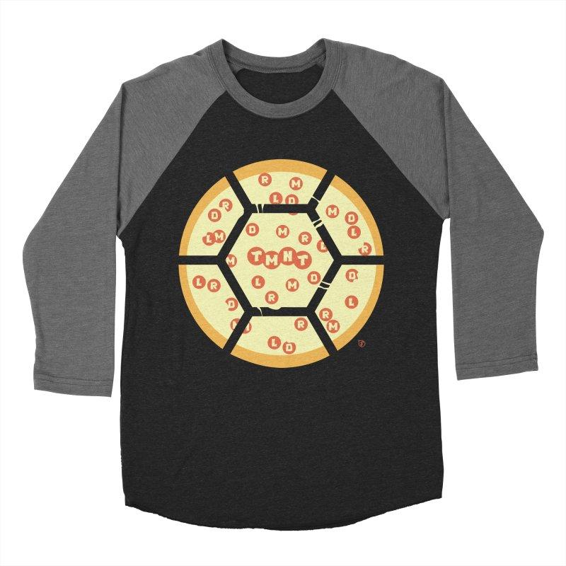 Half Shell Pizza Women's Baseball Triblend T-Shirt by Joel Siegel's Artist Shop