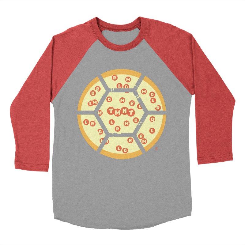 Half Shell Pizza Men's Baseball Triblend T-Shirt by Joel Siegel's Artist Shop