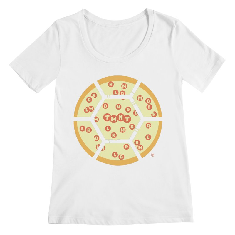 Half Shell Pizza Women's Scoopneck by Joel Siegel's Artist Shop