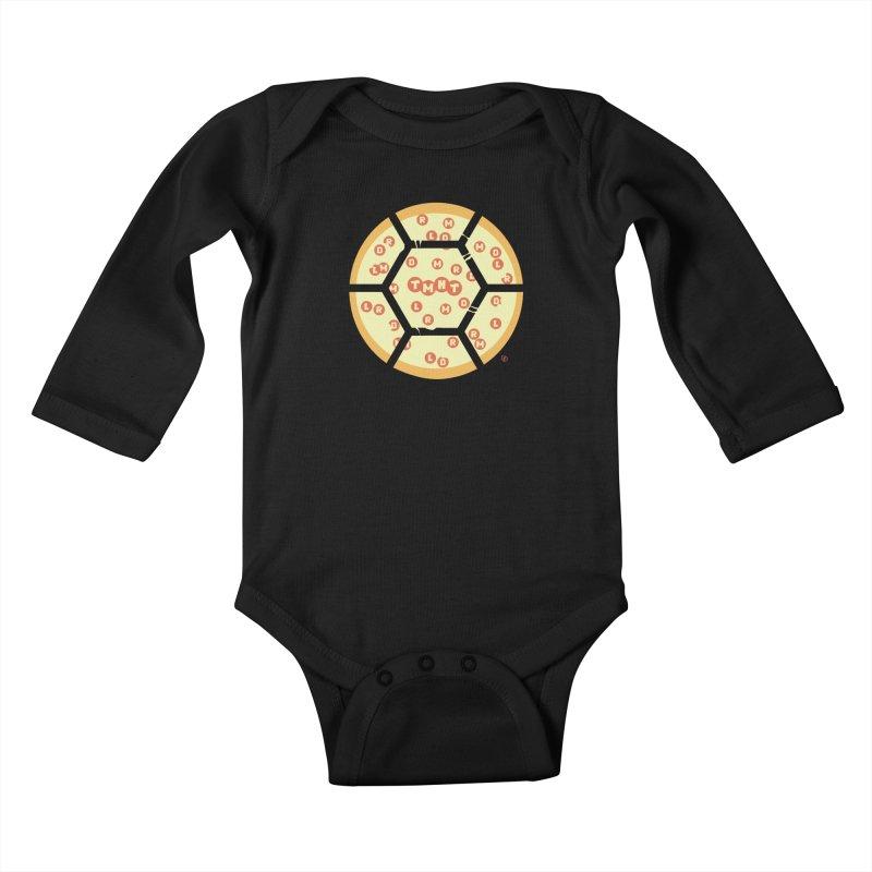 Half Shell Pizza Kids Baby Longsleeve Bodysuit by Joel Siegel's Artist Shop