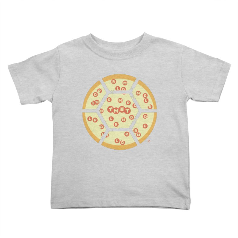 Half Shell Pizza Kids Toddler T-Shirt by Joel Siegel's Artist Shop