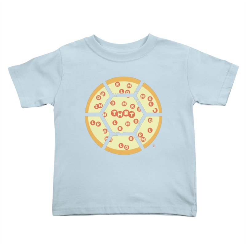Half Shell Pizza Kids Toddler T-Shirt by Joel Siegel's Artist Shop