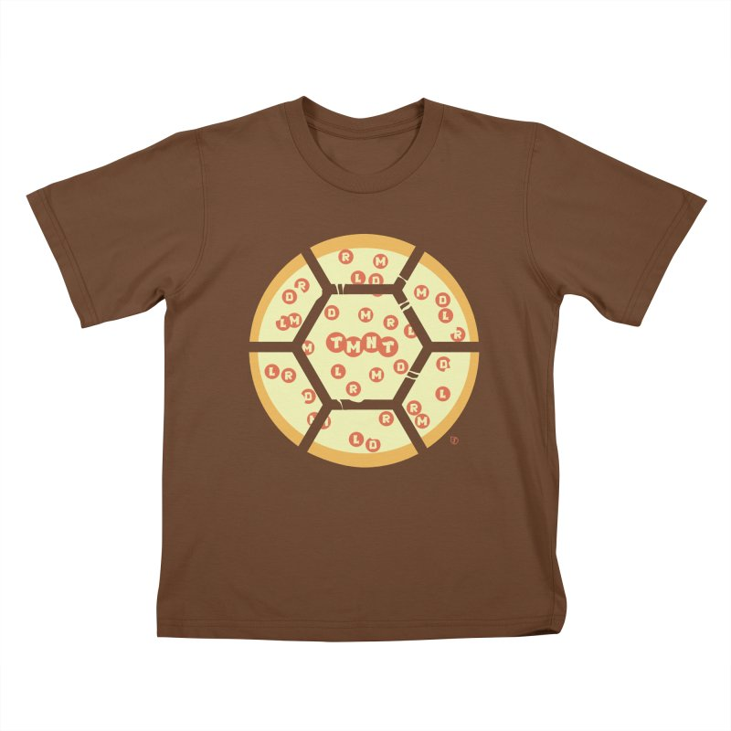 Half Shell Pizza Kids T-Shirt by Joel Siegel's Artist Shop