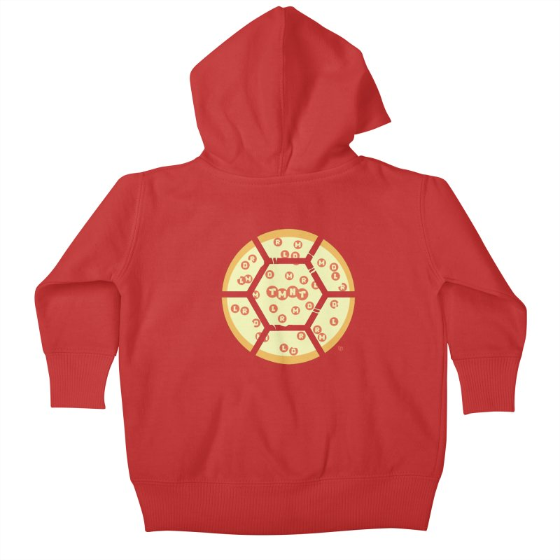 Half Shell Pizza Kids Baby Zip-Up Hoody by Joel Siegel's Artist Shop