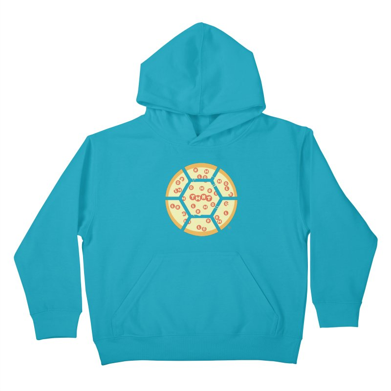 Half Shell Pizza Kids Pullover Hoody by Joel Siegel's Artist Shop