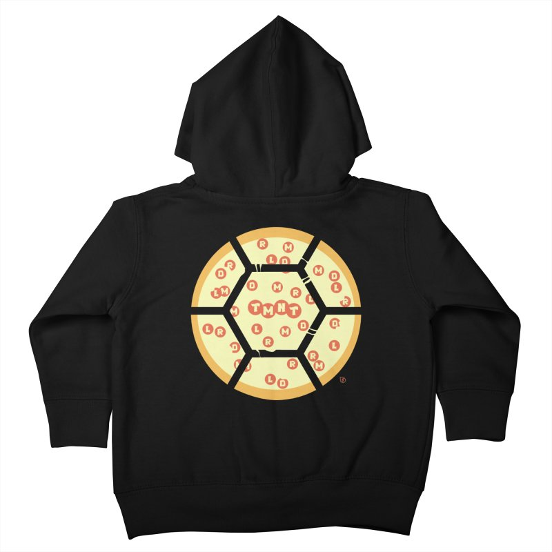 Half Shell Pizza Kids Toddler Zip-Up Hoody by Joel Siegel's Artist Shop