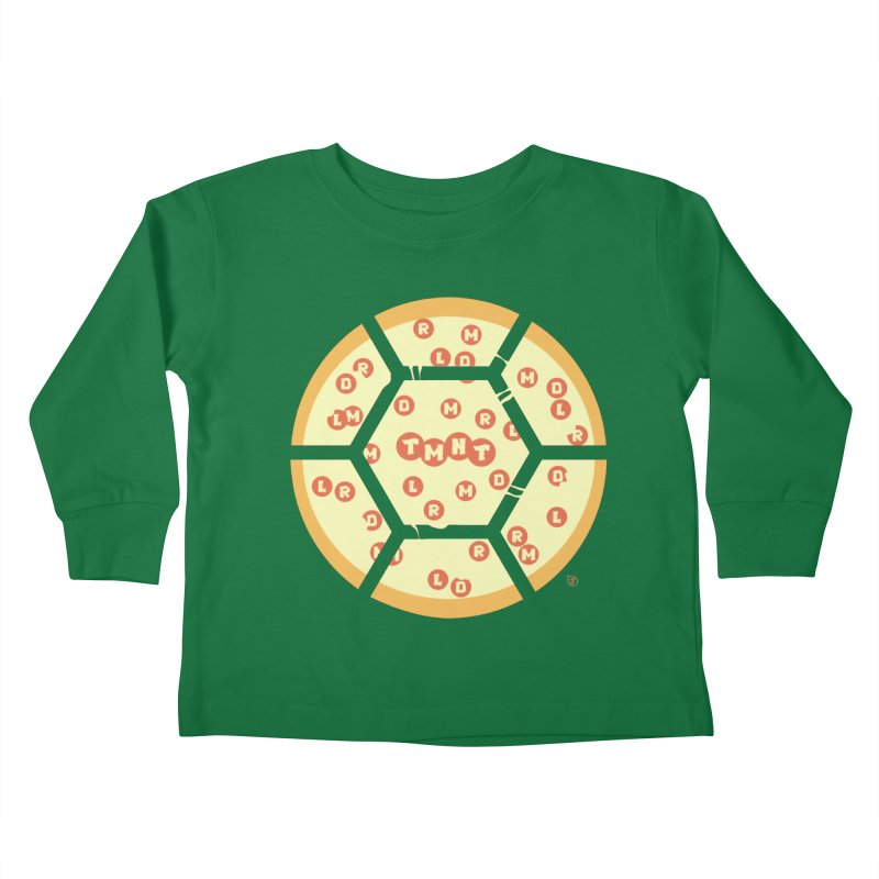 Half Shell Pizza Kids Toddler Longsleeve T-Shirt by Joel Siegel's Artist Shop