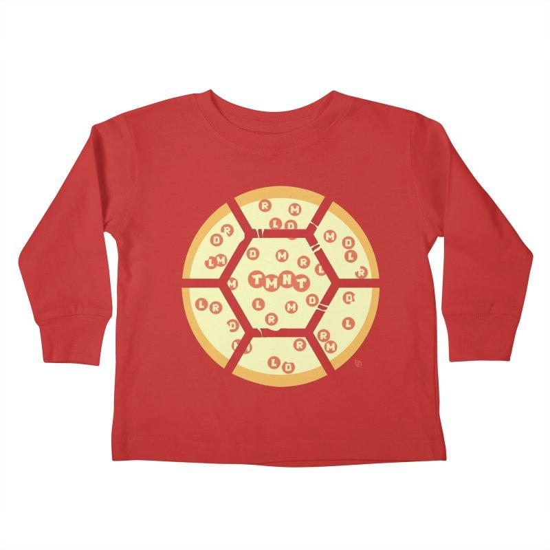 Half Shell Pizza Kids Toddler Longsleeve T-Shirt by Joel Siegel's Artist Shop