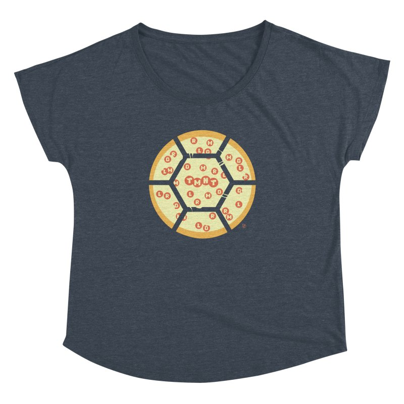 Half Shell Pizza Women's Dolman Scoop Neck by Joel Siegel's Artist Shop