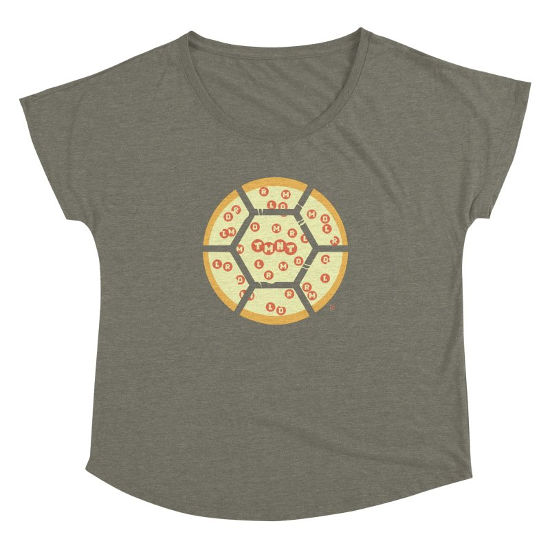 Half Shell Pizza Women's Dolman by Joel Siegel's Artist Shop