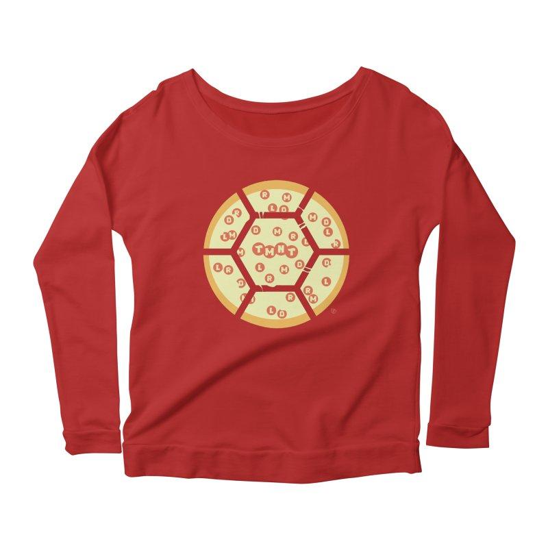 Half Shell Pizza Women's Longsleeve Scoopneck  by Joel Siegel's Artist Shop