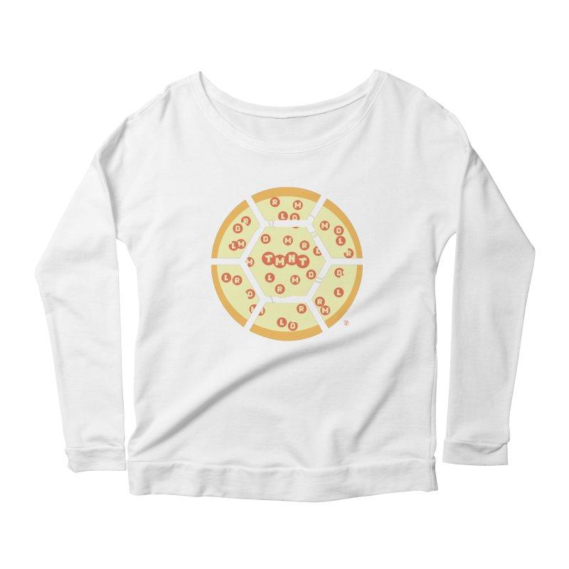Half Shell Pizza Women's Scoop Neck Longsleeve T-Shirt by Joel Siegel's Artist Shop