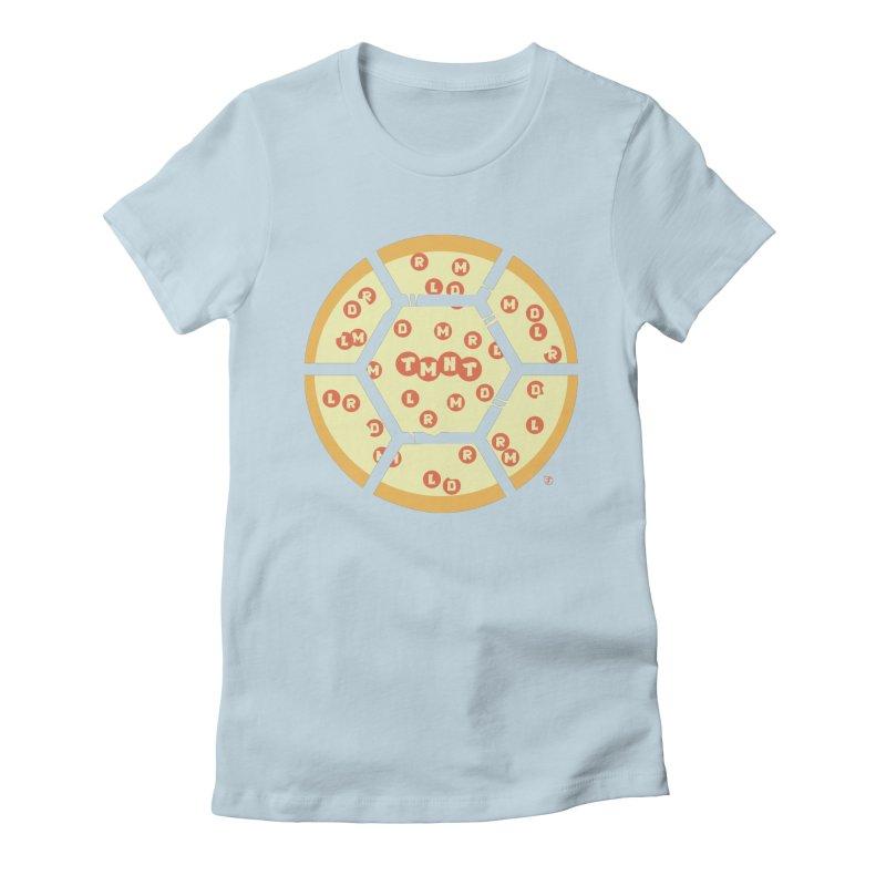Half Shell Pizza Women's Fitted T-Shirt by Joel Siegel's Artist Shop