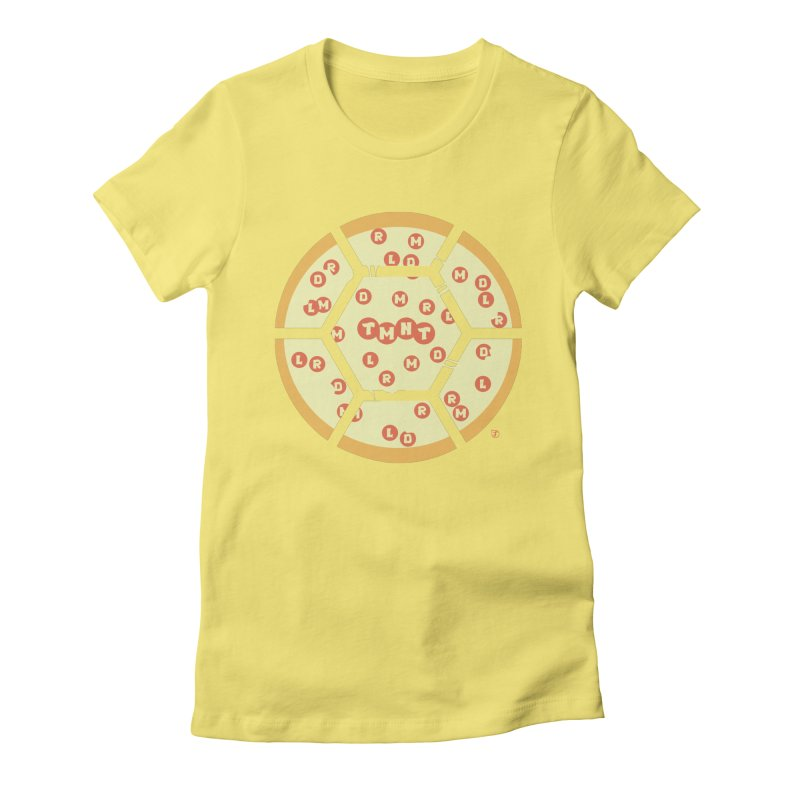 Half Shell Pizza Women's Fitted T-Shirt by Joel Siegel's Artist Shop
